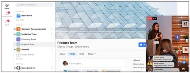 Workplace by Facebook    - টিমের সদস্যদের সাথে যোগাযোগ ও সহযোগিতার জন্য অনলাইন টুল